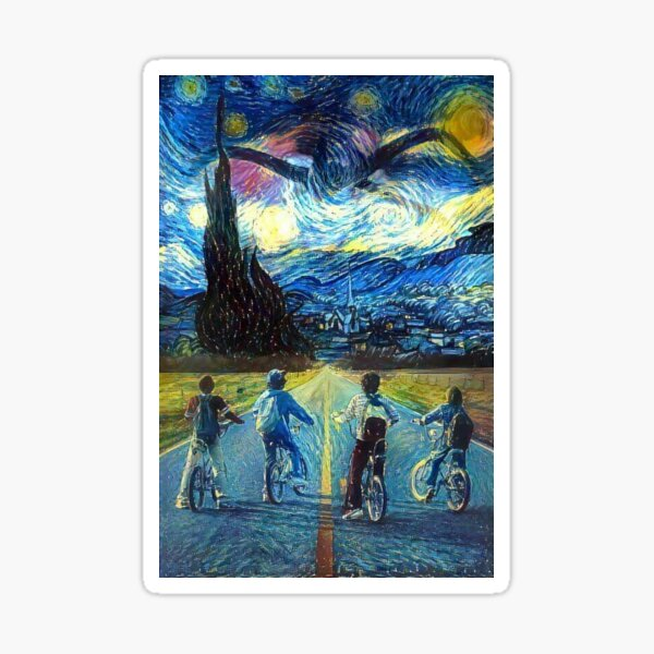 Stranger Things Starry Night Sticker
