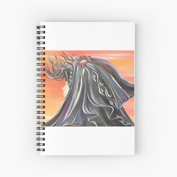 Girl in the Desert Spiral Notebook