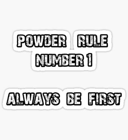 Powder Rule Sticker
