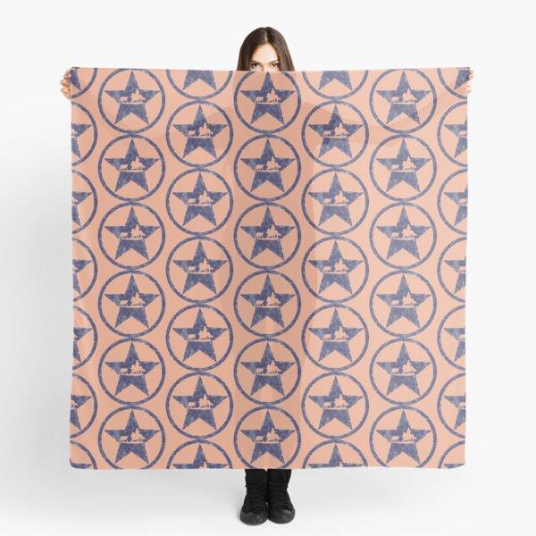Blue Texas Star Cowhorse - Peach Pattern Scarf
