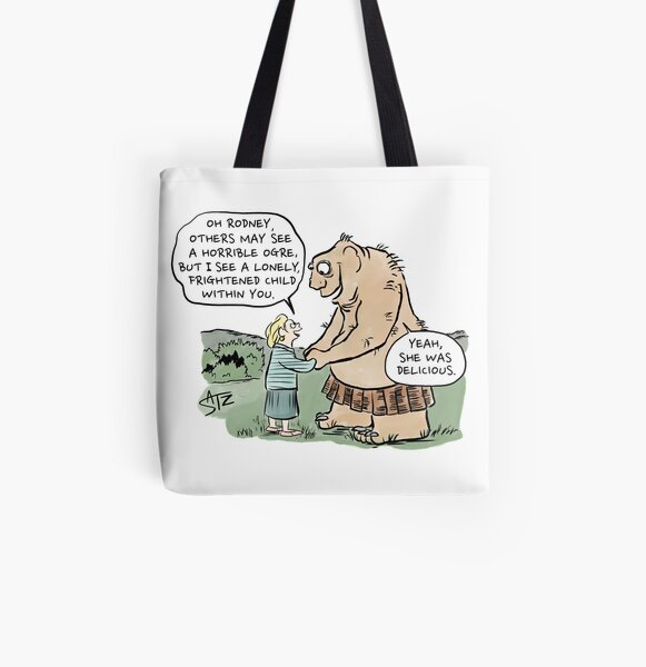She was delicious All Over Print Tote Bag