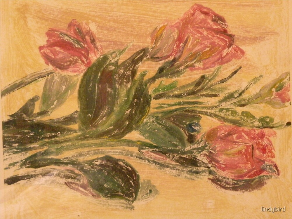 Flower imprints by lindybird