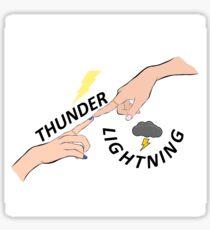 Thunder! Lightning! Sticker