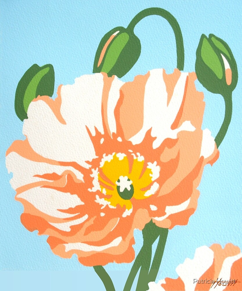 Poppy 1 : Screenprint by Patricia Howitt