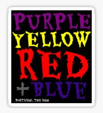 purple yellow red & blue Sticker