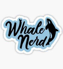 Whale Nerd Sticker Glossy Sticker
