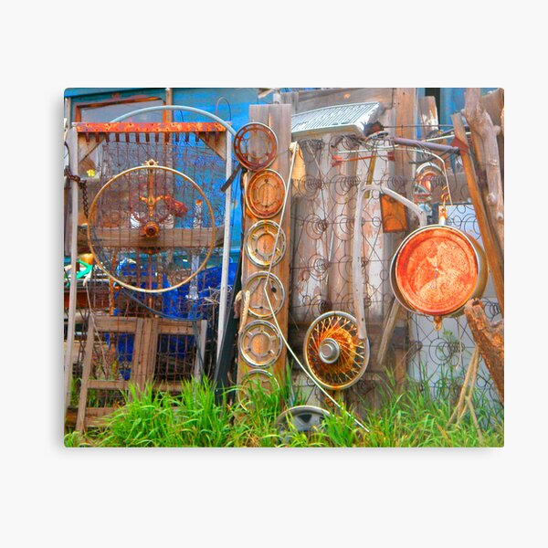 Ward Junk Yard Metal Print