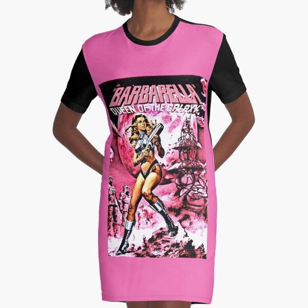 BARBARELLA QUEEN OF THE GALAXY RETRO SCI-FI Graphic T-Shirt Dress