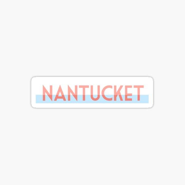 Nantucket Geotag Sticker Sticker