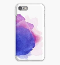 Abstract watercolor art hand paint on white background iPhone Case/Skin