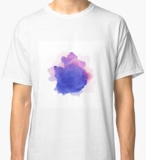 Abstract watercolor art hand paint on white background Classic T-Shirt