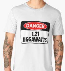 Danger 1.21 Jiggawatts Sticker & T-Shirt - Gift For Movie Lover Men's Premium T-Shirt