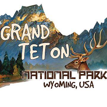 Parque Nacional Grand Teton Travel Parque Estatal Wyoming USA de Cbsbundles