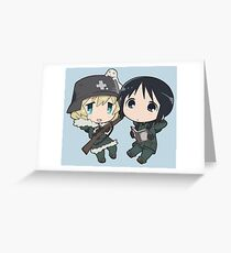 Yuuri and Chito- Girl's Last Tour Greeting Card