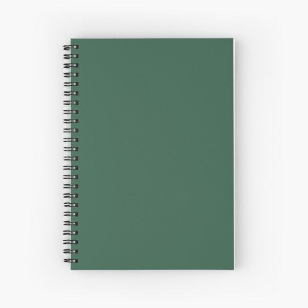 Dark Green Spiral Notebook