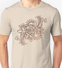 Rose Painted with Henna Unisex T-Shirt