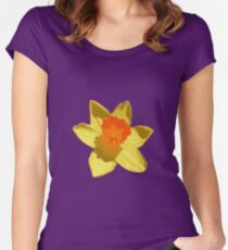 Spring Daffodil Vector Isolated Women's Fitted Scoop T-Shirt