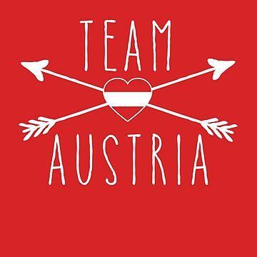 TEAM AUSTRIA with Arrows and Flag by Greenbaby