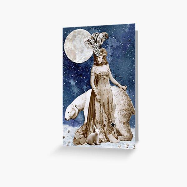 Moon Goddess of the North Greeting Card