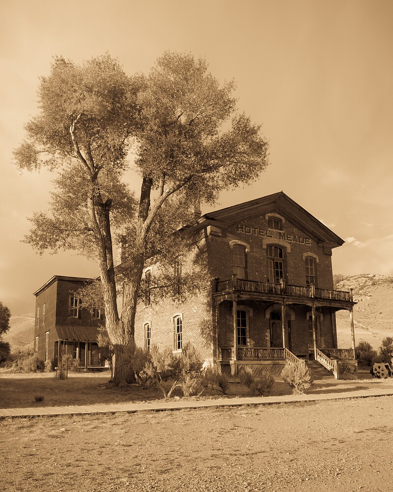 Meade Hotel in Sepia - Bannack, Montana by Tim Leonhardt