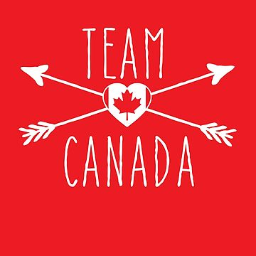 TEAM CANADA with Arrows and Flag by Greenbaby