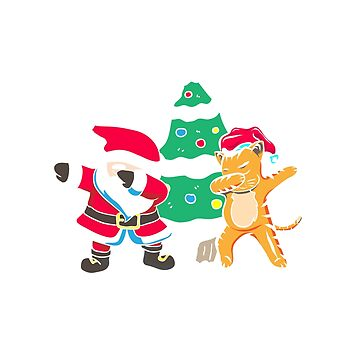 Dabbing Santa Dab Cat | Dabbing around the Christmas Tree | Funny Christmas sweater as a gift for Christmas by ArtTeez