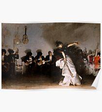 Weinlese John Singer Sargent - El-Jaleo 1882 Schöne Kunst Poster
