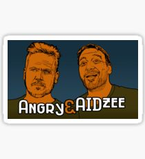 Angry and AIDzee Sticker