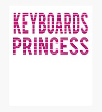 Keyboards Chick - Love Keyboard Musical Photographic Print