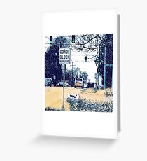 Intersection Interaction  Greeting Card