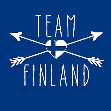 TEAM FINLAND with Arrows and Flag by Greenbaby