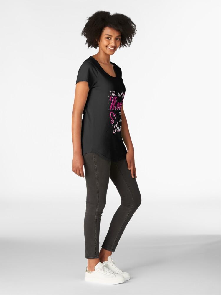 Alternate view of The Best Moms are born in June Premium Scoop T-Shirt