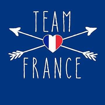 TEAM FRANCE with Arrows and Flag by Greenbaby