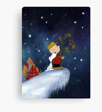 Snoopy and Charlie Brown dreams Canvas Print