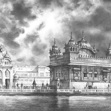 The Golden Temple - architecture drawing by kkmiecikart