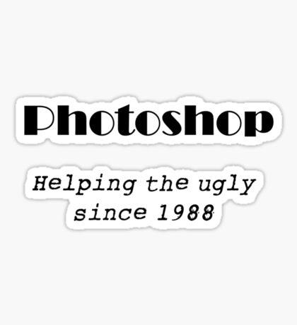 Photoshop t shirt Sticker