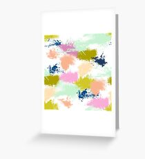 brush strokes Greeting Card