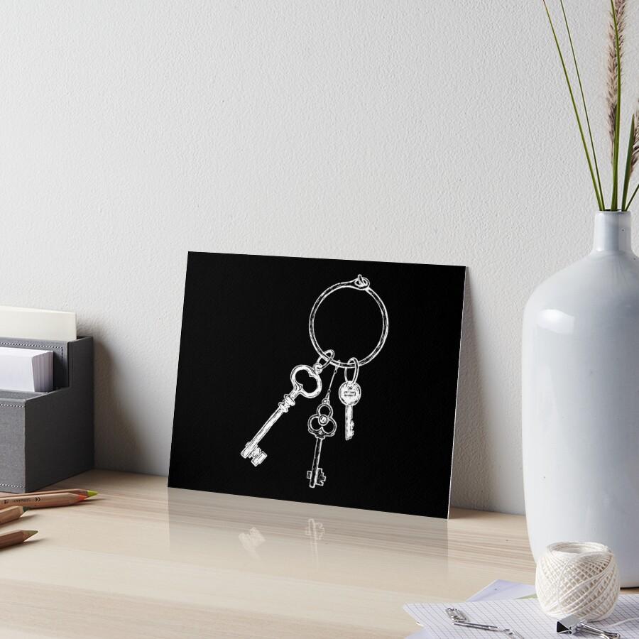 Ring of Vintage Skeleton Keys - White by darkwonderbrand