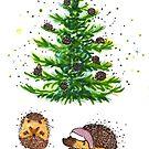 « Hérissons de Noël » par cindybarillet
