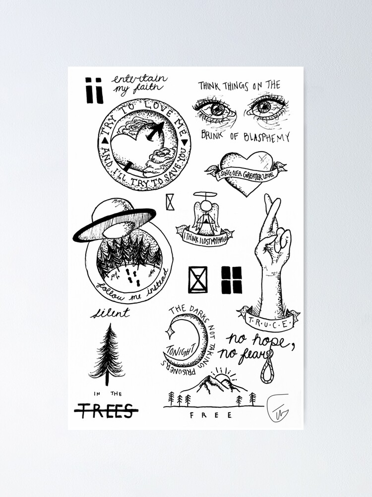Top Doodles Poster By Writeyourart Redbubble