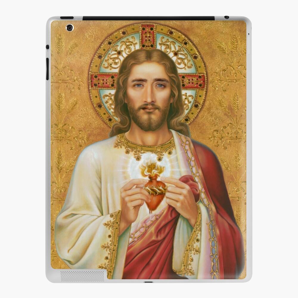 Dünnes Gesicht auf einem Foto von Jesus