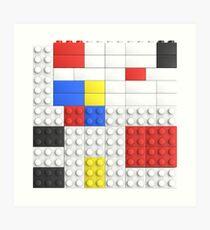 Mondrian Toy Bricks Art Print