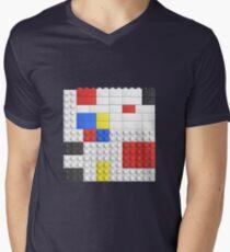 Mondrian Toy Bricks Men's V-Neck T-Shirt