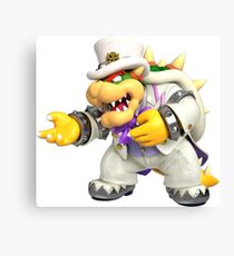 bowser in wedding outfit Canvas Print