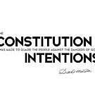 constitution, good intentions - daniel webster by razvandrc