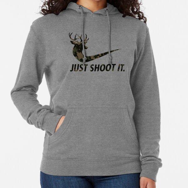 Just Shoot It Funny Hunting Nike Deer Fashion Lightweight Hoodie
