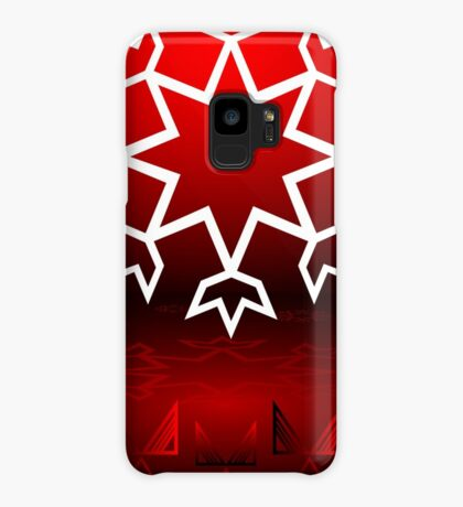 Red Xmas Snowflake design Case/Skin for Samsung Galaxy
