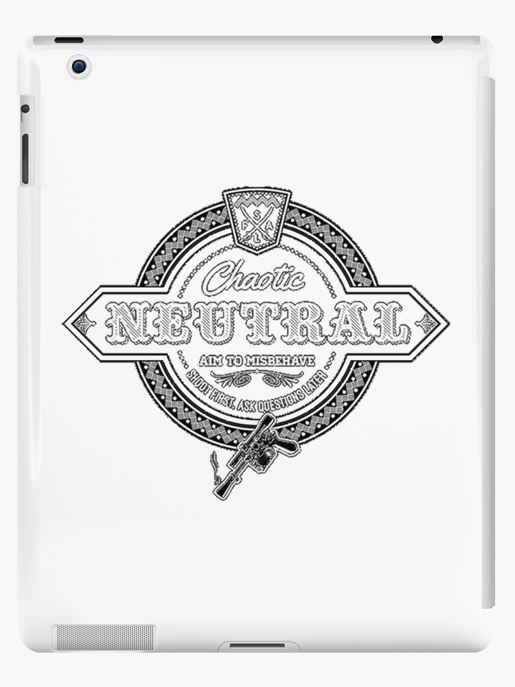 Chaotic Neutral Ipad Cases Skins By Andyjonesy87 Redbubble