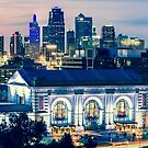 Union Station Kansas City Skyline Panoramic by Gregory Ballos