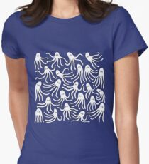 A Party of Handicapped Octopi II Women's Fitted T-Shirt